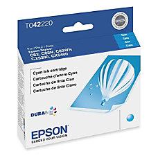 Epson T0422 T042220 DuraBrite Cyan Ink