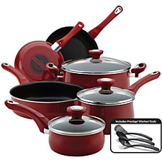 Farberware 12 Piece Cookware Set Red