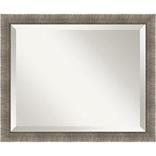 Amanti Art Silver Leaf Wall Mirror