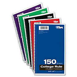 TOPS 3 subject College Ruled Notebook