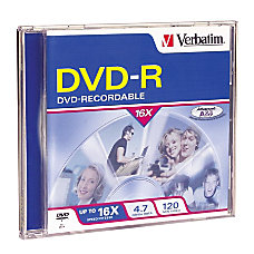 Verbatim DVD R 47GB 16X with