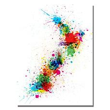 Trademark Global New Zealand Paint Splashes