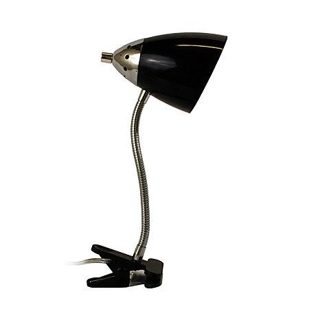 LimeLights Flossy Flexible Gooseneck Clip Desk Lamp 40W Black By Office Depot