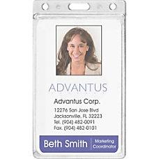 Advantus Frosted Vertical Badge Holder Vertical