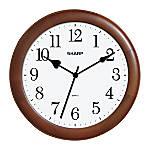 Sharp 12 Wall Clock Cherry