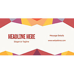 Custom Horizontal Banner Abstract Design Theme