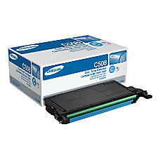Samsung CLT C508S Cyan Toner Cartridge