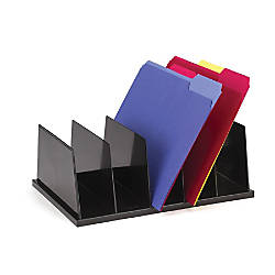 Officemate Large Sorters 5 Compartments Black