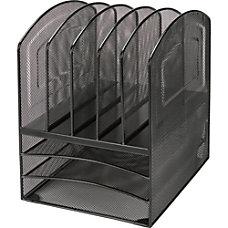 Lorell Steel Mesh 35 Tray Desktop