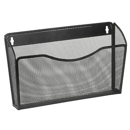 brenton studio mesh wall letter file black by office depot With wall letter file