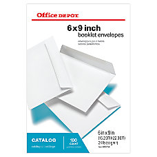 Office Depot Brand Booklet Envelopes 6