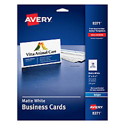 Avery Inkjet Microperforated Business Cards 2