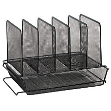 OfficeMax Mesh Stacking Desk Sorter Black