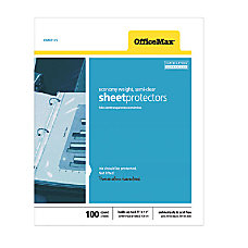 OfficeMax Top Load Sheet Protectors 11