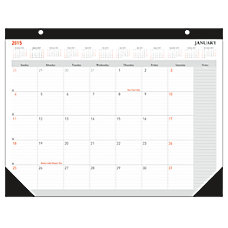 FORAY 30percent Recycled Monthly Desk Pad