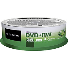 Sony 25DPW47SPM DVD Rewritable Media DVDRW