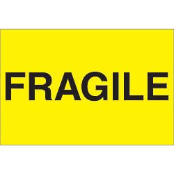 Tape Logic Preprinted Labels Fragile Rectangle