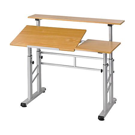 Safco Height Adjustable Split Level Drafting Table Medium