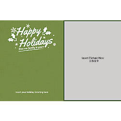 Photo Greeting Card Horizontal From Our