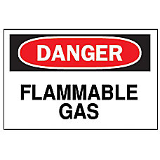 FIBERGLASS 10 X14 DANGER FLAMMABLE GAS