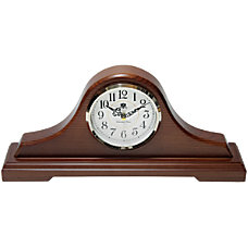 Infinity Instruments Oak Tambour Tabletop Clock