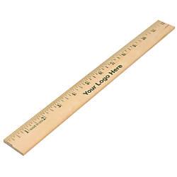 Aakron Rule Wood Ruler 12 Natural