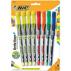 BIC Z4 Brite Liner Highlighters Chisel