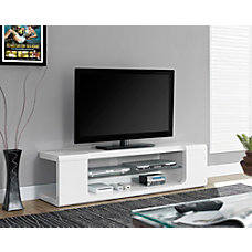 Monarch Specialties Glossy TV Stand For