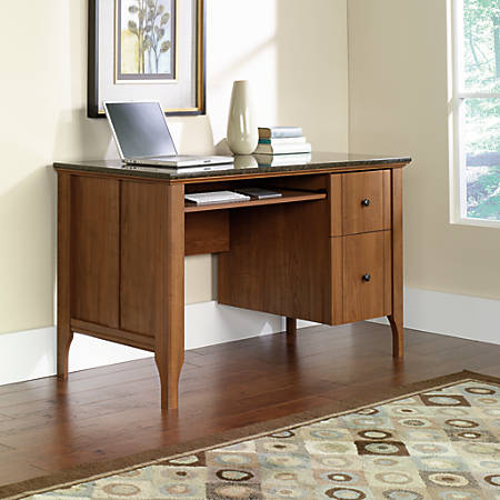 Sauder Appleton Faux Marble Top Computer Desk Sand Pear by Office ...