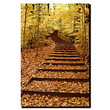 Trademark Global Fall Stairway Gallery Wrapped