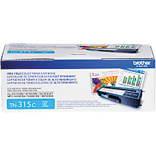 Brother TN 315C Cyan Toner Cartridge