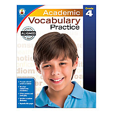 Carson Dellosa Academic Vocabulary Practice Workbook