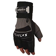 MEDIUM IMPACT GLOVE WWRIST SUPPORT SILVER