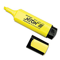 Fluorescent Highlighters Yellow Box Of 12