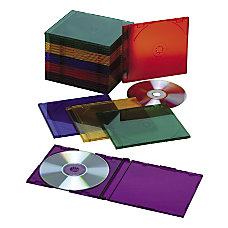 Slim CD Case Assorted Pack Of