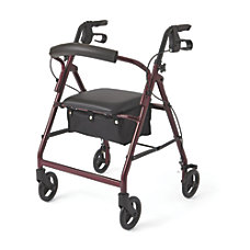 Guardian Basic Rollator 6 Wheels Burgundy