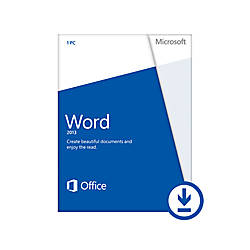 Microsoft Office Word Home and Student 2013 , Download Version