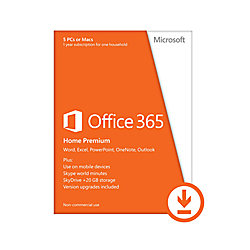 microsoft office 365 home premium 1 year download version