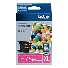 Brother LC75M High Yield Magenta Ink