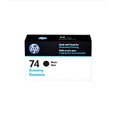 HP 74 Economy Yield Black Ink