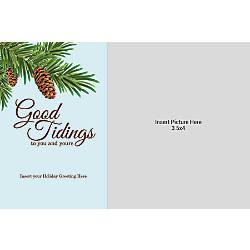 Photo Greeting Card Horizontal Good Tidings