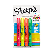 Sharpie Gel Highlighters Assorted Pack Of