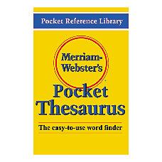 Merriam Websters Pocket Thesaurus Pack Of