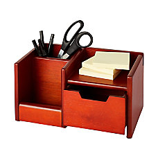Rolodex Wood Tones Wireless Organizer Mahogany
