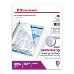 Office Depot Brand Secure Top Sheet
