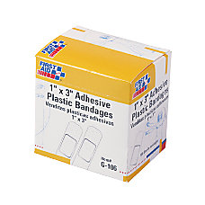First Aid Plastic Adhesive Bandages1 x