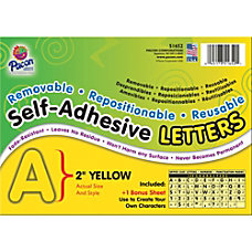 Pacon Colored Self Adhesive Removable Letters