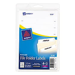 Avery Removable File Folder Labels 1116