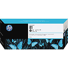 HP 81 Black Dye Ink Cartridge