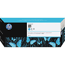 HP 81 Cyan Dye Ink Cartridge